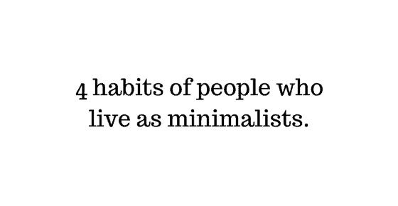 Minimalism Minimalist